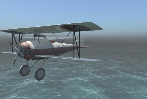 IBU3D animación en 3D de un avión de la primera guerra mundial
