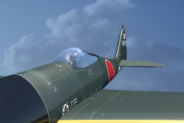 IBU3D animación en 3D de un avión de la segunda guerra mundial