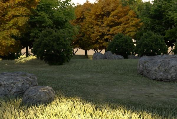 IBU3D Animación 3D de un paisaje
