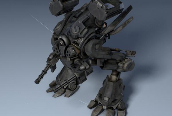 IBU3D Animación 3D de un robot.